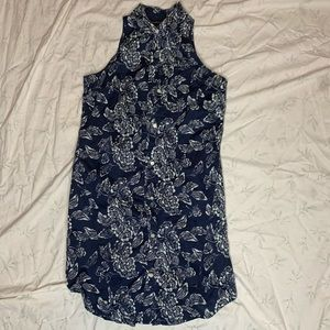 Banana republic floral sleeveless blouse